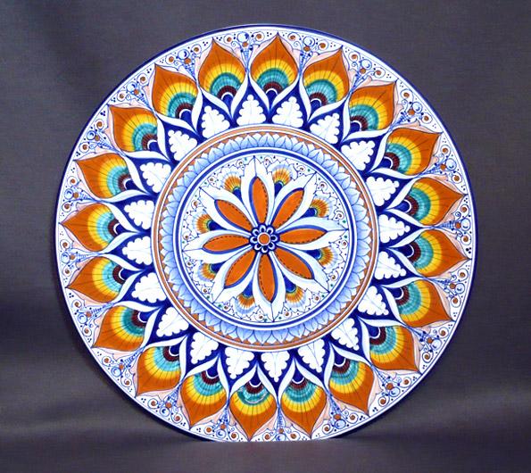 Piatti ornamentali in ceramica artistica di faenza la - Piatti di frutta decorati ...