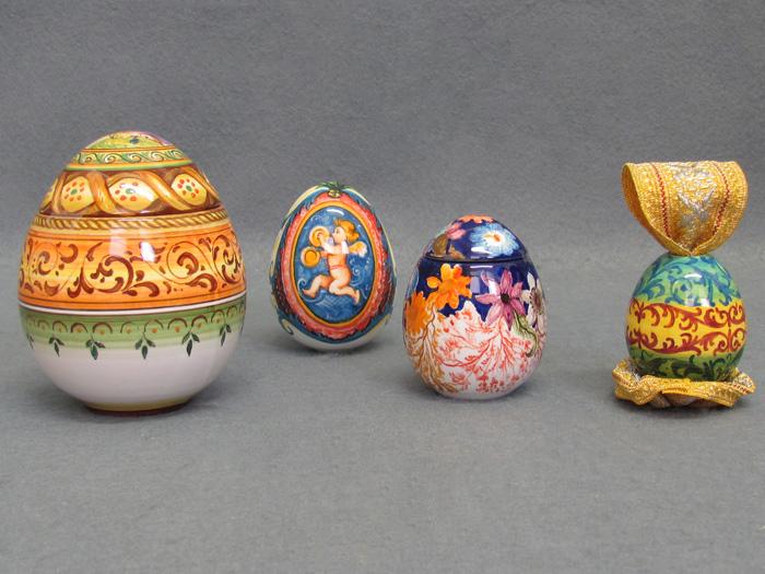 Uova Di Pasqua Ceramica.Uova Pasquali Decorate In Ceramica Artistica La Vecchia Faenza