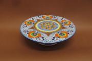 tortiera ceramica faentina decoro pavona