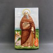 Sant'Antonio Abate - Formella in ceramica di Faenza