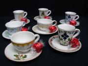 Servizio da caffè in ceramica di Faenza