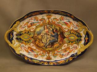 Grande vassoio Raffaellesco, ceramica artistica di Faenza, pottery