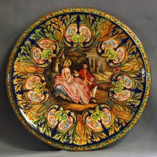 Piatto raffaellesco ispirato a Thomas Gainsborough