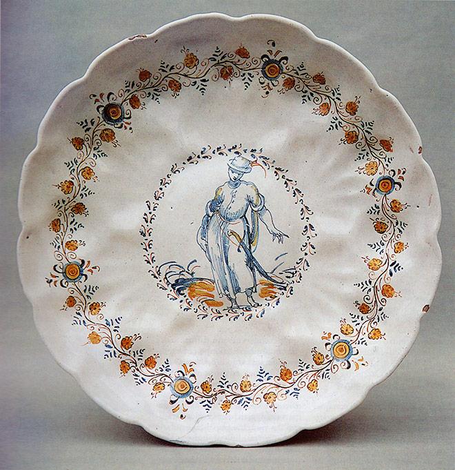 coppa decorata a Compendiario, Faenza, Sedicesimo secolo