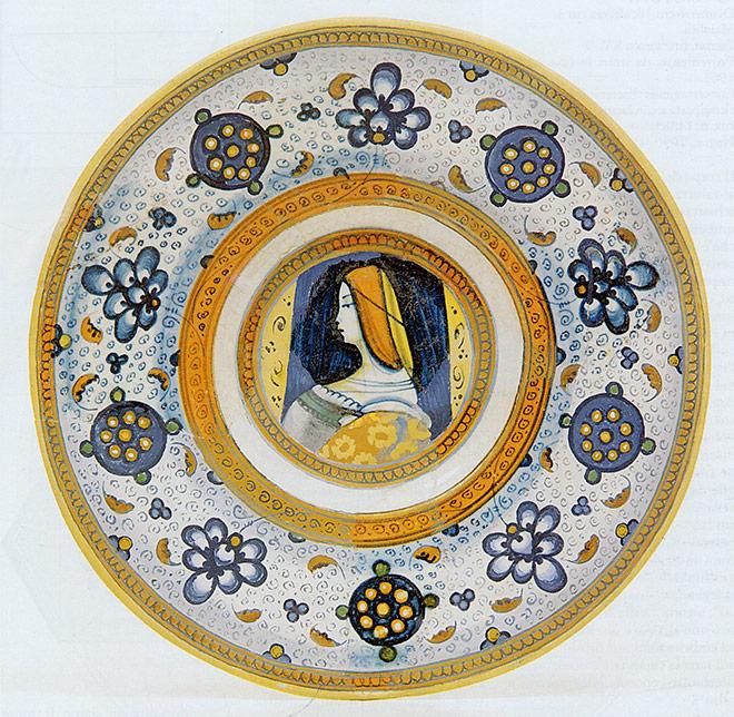 piatto decoro Palmetta, Faenza, XVI secolo